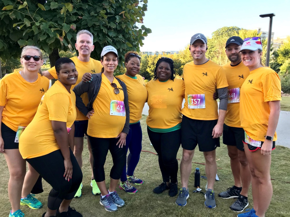 Swift Currie Team at Back on My Feet Atlanta Meaningful Miles 5K